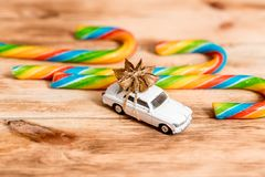 Free New Car Gift. Auto Dealership And Rental Concept Background Stock Photography - 159050522