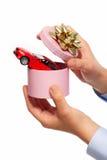 New car gift. Stock Photos