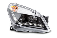 New car headlights stock images