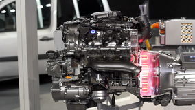 New car hybrid engine stock footage