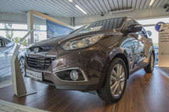 New car, hyundai ix35 1,7 crdi Stock Photo