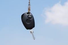 New car key. Against a blue sky Stock Photography
