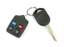New car keys. A set of new car keys against a white background stock photo