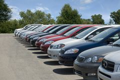 New Car Lot Royalty Free Stock Images