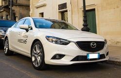 New car mazda 6 six on the road Royalty Free Stock Images