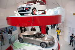 New Car Models, Citroen, Paris. Citroen Champs Elysee, Paris auto showroom Royalty Free Stock Images