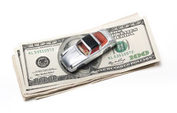 New car money Royalty Free Stock Images