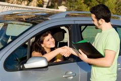 Free New Car Or Passing Driving Test Stock Images - 4308334