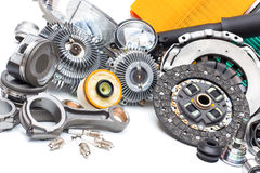 Free New Car Parts On A Gray Stock Photo - 96420660