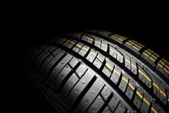 New car the pattern of rubber, close, detail Royalty Free Stock Images