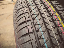 New car tire Stock Photos