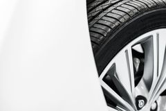 New Car Tire Closeup Stock Image
