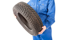 New car tire in studio Stock Image