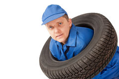 New car tire in studio Stock Images