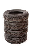 New car tires in studio Royalty Free Stock Photography