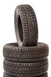 New car tires in studio Royalty Free Stock Photos