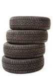 New car tires in studio Royalty Free Stock Photo
