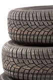 New car tires in studio Royalty Free Stock Image
