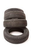 New car tires in studio Stock Images
