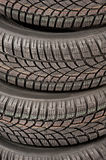 New car tires in studio Stock Photo