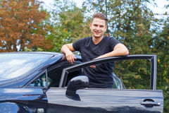 New car in town Royalty Free Stock Photo