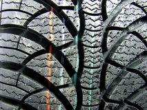 New car tyre Stock Photos