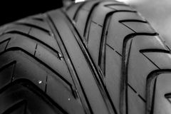 New car tyre closeup photo Stock Photo