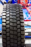 New car tyre closeup photo Royalty Free Stock Image