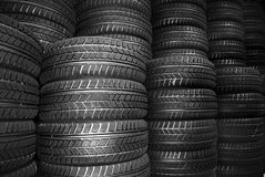 Free New Car Tyres Royalty Free Stock Photography - 3946237