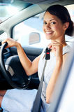 New car woman Stock Photo