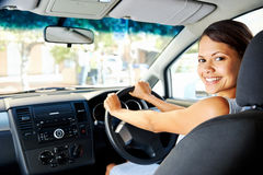 New car woman Stock Photography