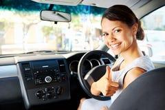 New car woman Stock Photos