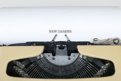 New Career. Beginning concept typewriter Royalty Free Stock Photo