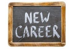 New career fr. New career handwritten on vintage school slate board isolated on white Stock Images