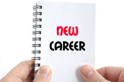 New career text concept. Isolated over white background Royalty Free Stock Image