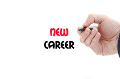 New career text concept. Isolated over white background Stock Image