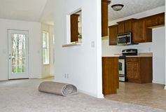 New Carpet / Remodeled Kitchen Stock Image