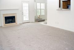 New carpet and vinyl install royalty free stock photo