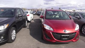New Cars, Car Dealership, Parking Lot stock footage