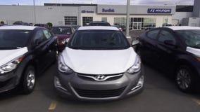 New Cars, Car Dealership, Parking Lot stock video