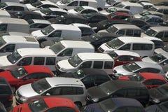 New cars coming into Italy, via Rome, Italy Stock Photos