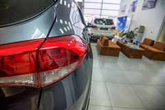 New cars at dealer showroom Royalty Free Stock Photos