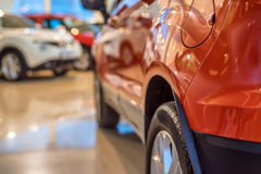 New cars at dealer showroom Royalty Free Stock Photography