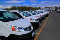 New Cars Dealership Stock Photography