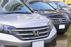 New cars at dealership Stock Photos