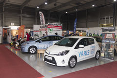 New cars displayed on AquaTherm 2012 in Prague Stock Photography