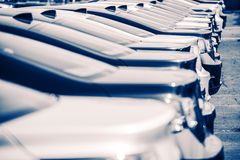 New Cars Factory Parking Royalty Free Stock Image
