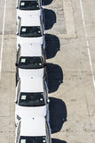 New cars ready for shipment at the port of Barcelona Stock Photography