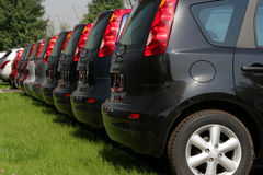 New cars in a row Royalty Free Stock Photo