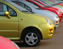 New cars on sale Stock Photography
